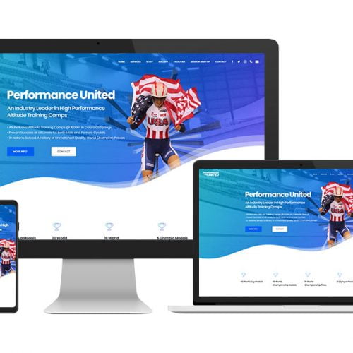 Performance United Website Design - Devices