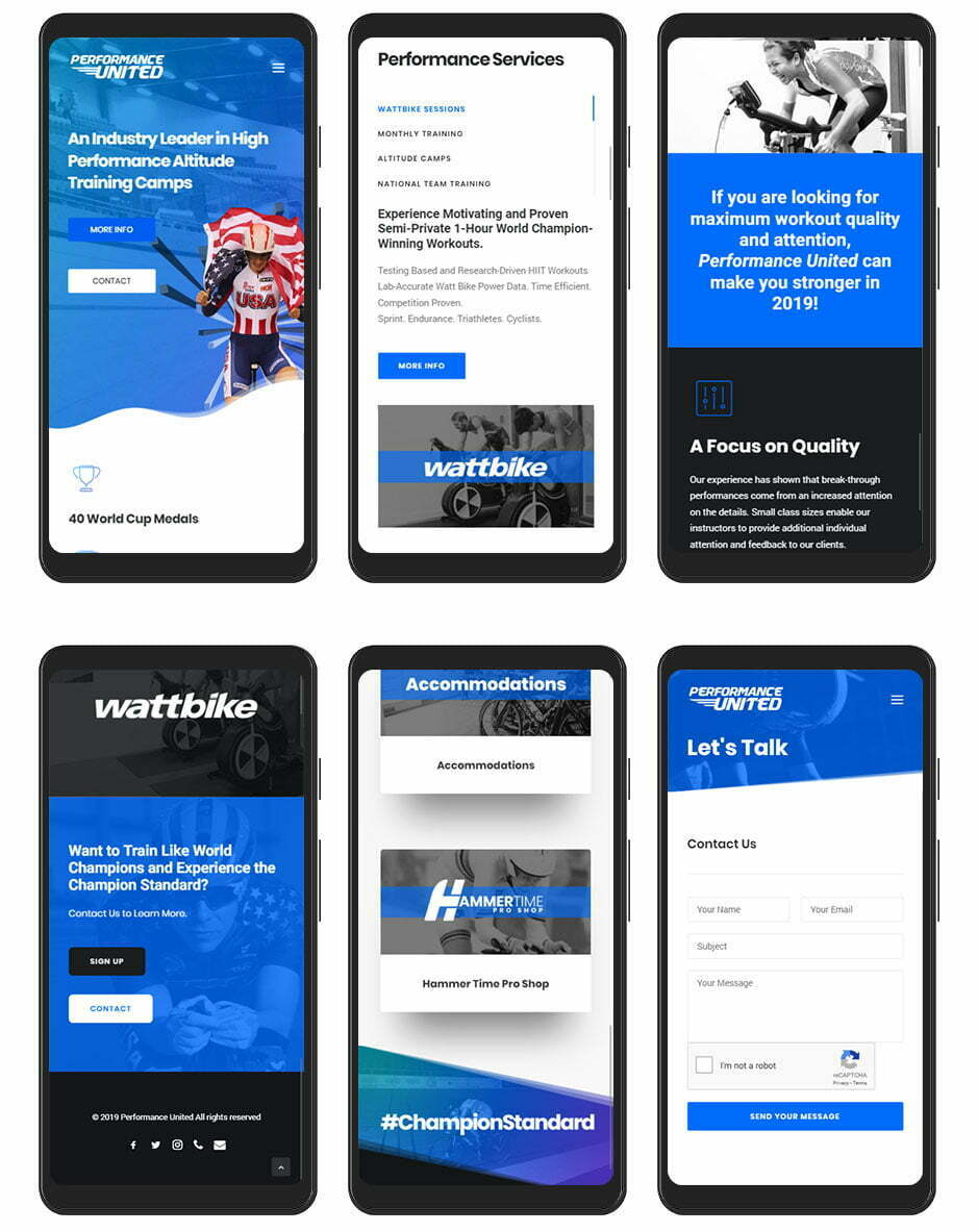 Performance United Website Design - Mobile