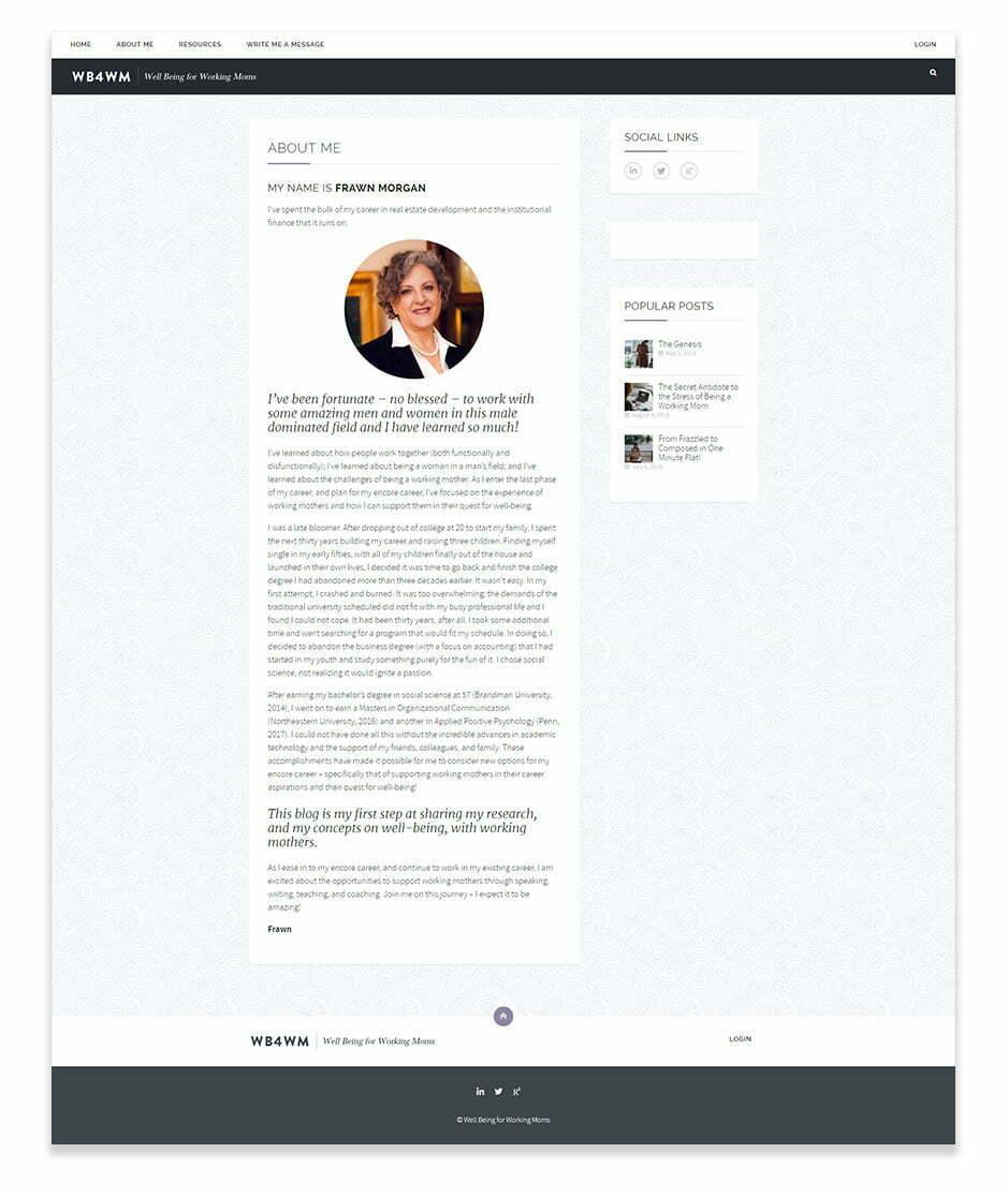 WB4WM Website Design - Desktop