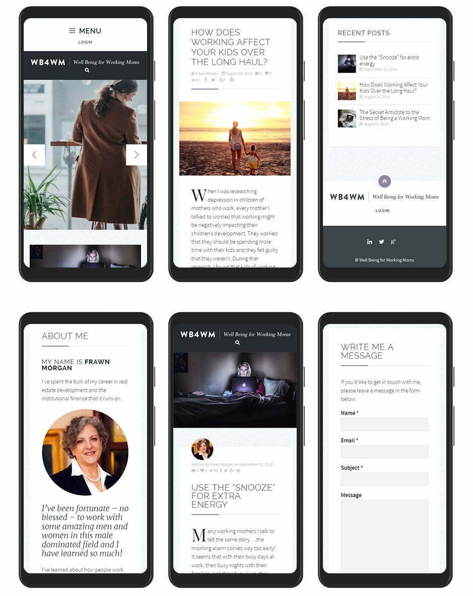 WB4WM Website Design - Mobile