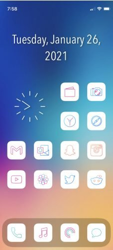 Lines Chroma - iOS 14 Icons for iPhone photo review