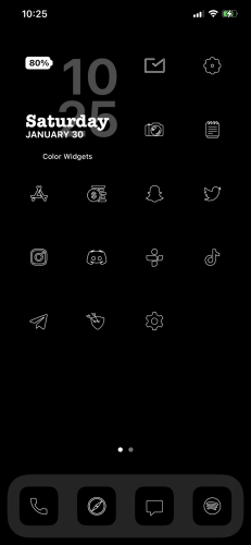 Lines - iOS 14 Minimalist Icons for iPhone photo review