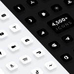 flight ios icons black and white