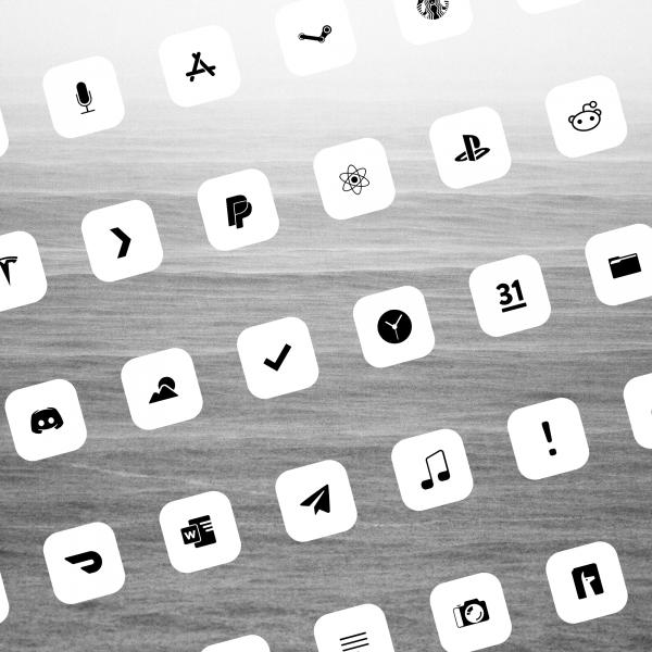 flight white bg icons