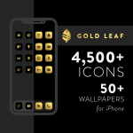 Gold Leaf - iOS 14 Icons