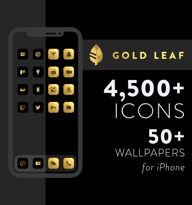 Gold Leaf - iOS 14 Icons