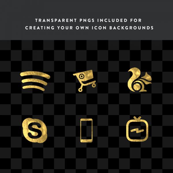 gold leaf transparent icons