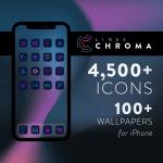 Lines Chroma - iOS icons
