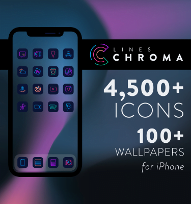 Lines Chroma - iOS icons