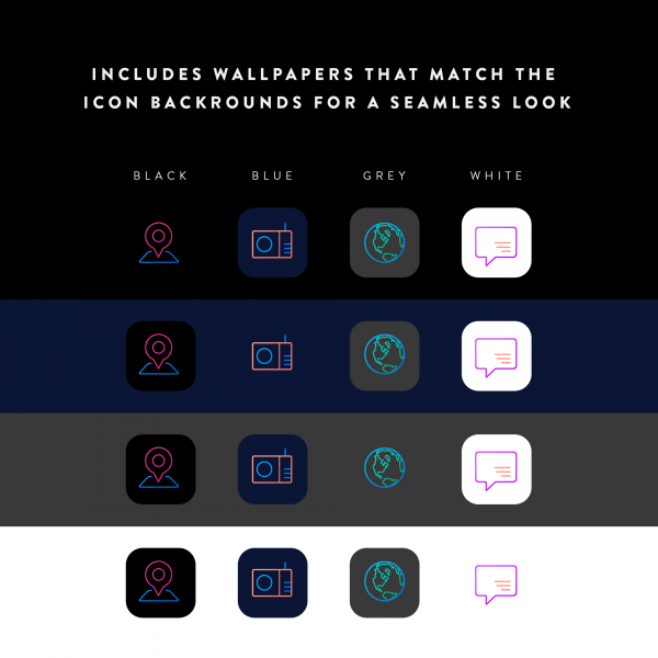 lines chroma matching background icons