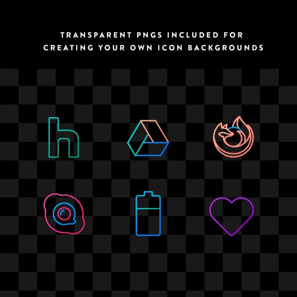 lines chroma transparent ios icons