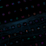 lines chroma black bg icons