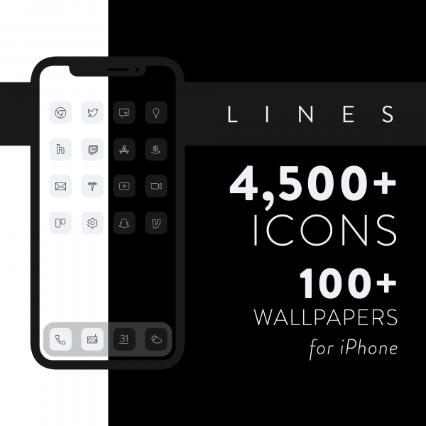 lines ios icons product image