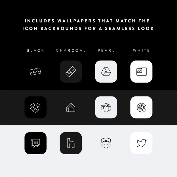 Lines iOS Icon backgrounds