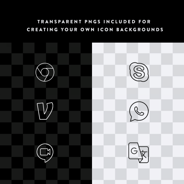 Lines iOS transparent PNGs
