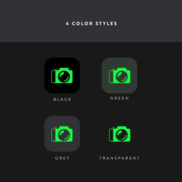 terminal ios icons color styles