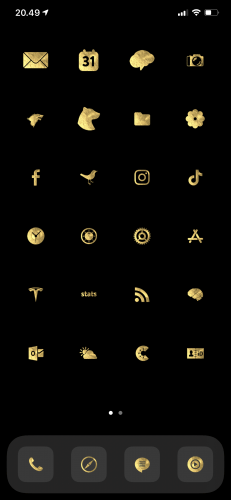 Gold Leaf - iOS 14 Icons for iPhone photo review