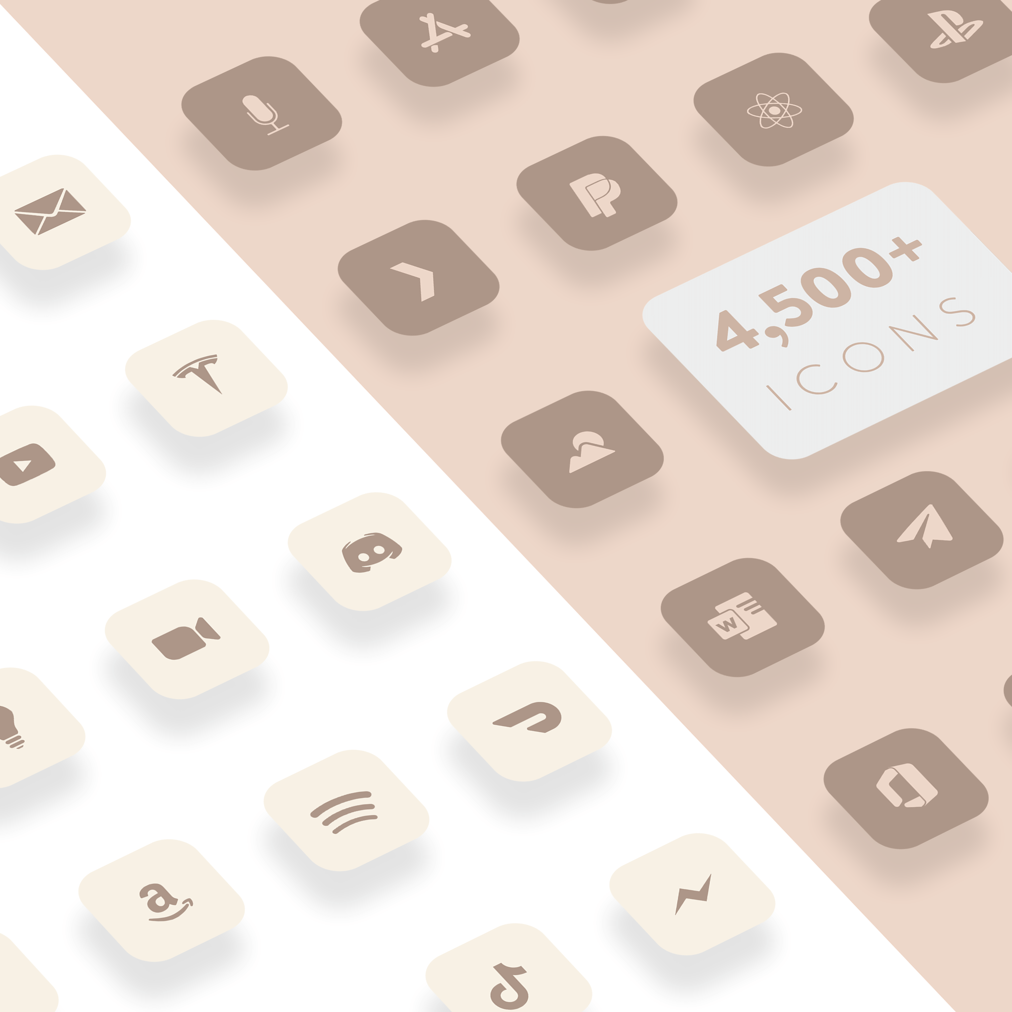 Glam - Neutral Matte iOS 14 Icons for iPhone - Nate Wren ...