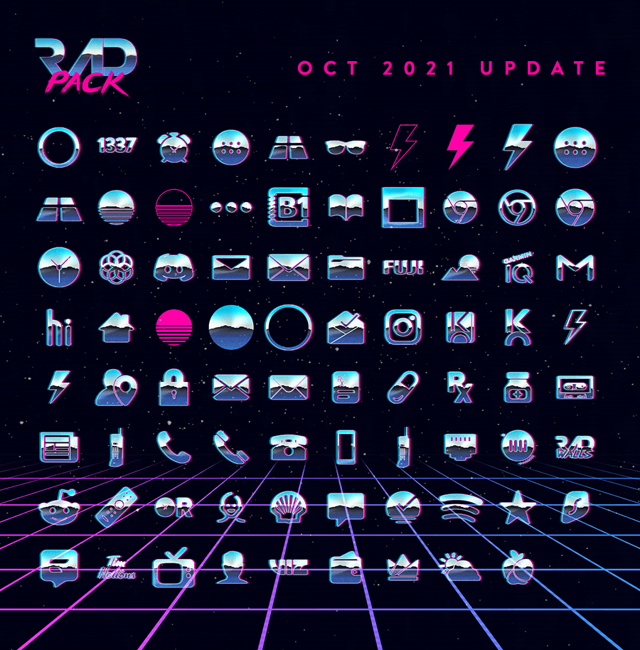 Rad Pack Icons - October 2021 Update